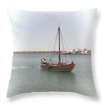 Dutch Vessel Throw Pillow by Elaine Teague