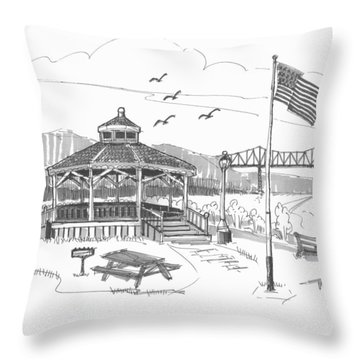 Dutchmen's Landing Catskill Throw Pillow