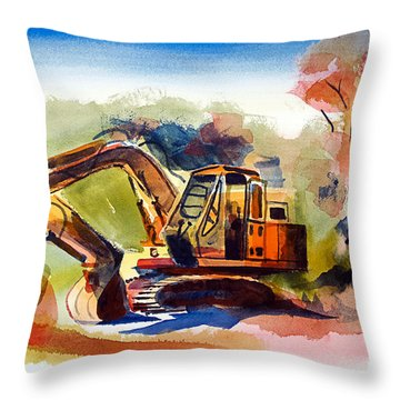 Duty Dozer II Throw Pillow