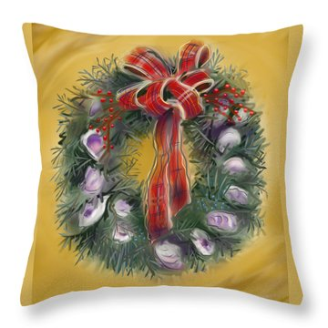 Duxbury Oyster Wreath Throw Pillow