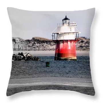 Duxbury Pier Light Throw Pillow