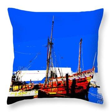 Duyfken 1606 In Fremantle Throw Pillow by Roberto Gagliardi