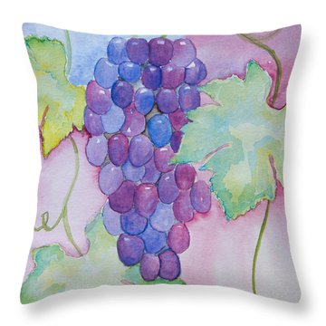 D'vine Delight Throw Pillow by Heidi Smith