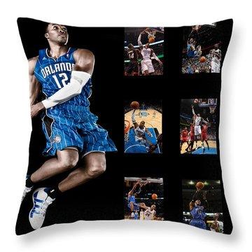 Dwight Howard Throw Pillow by Joe Hamilton