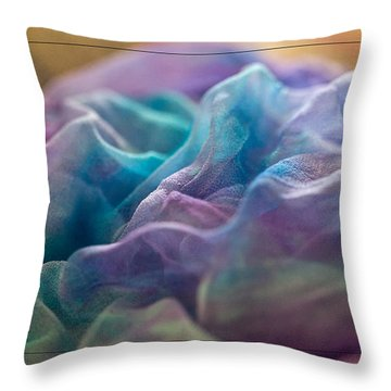 Dyed Silk Throw Pillow
