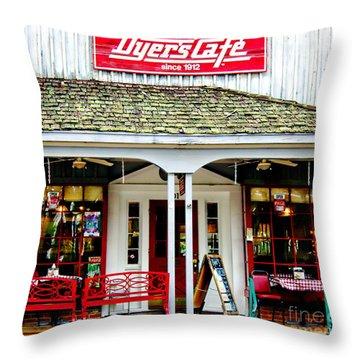 Dyer's Cafe Memphis  Throw Pillow