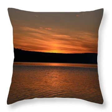 Dying Breath Of The Day Throw Pillow