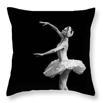 Dying Swan 8. Throw Pillow
