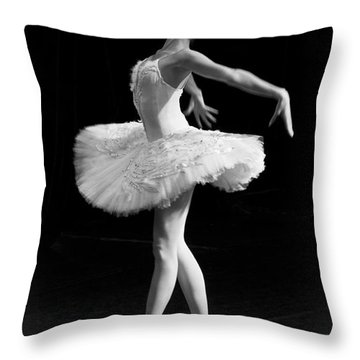 Dying Swan I. Throw Pillow