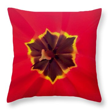 Dying Tulip Throw Pillow
