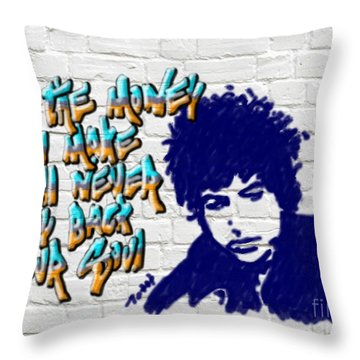 Dylan Graffiti2 Throw Pillow