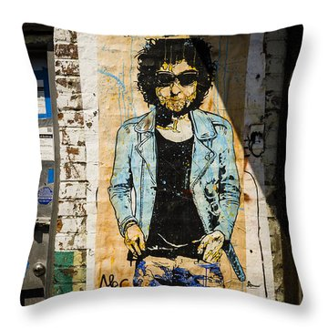 Dylan In New York Throw Pillow