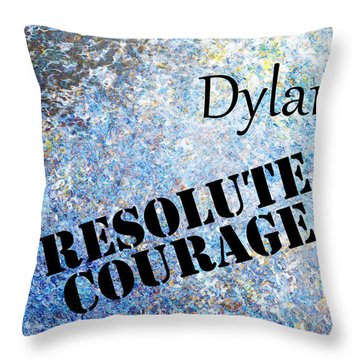 Dylan - Resolute Courage Throw Pillow by Christopher Gaston