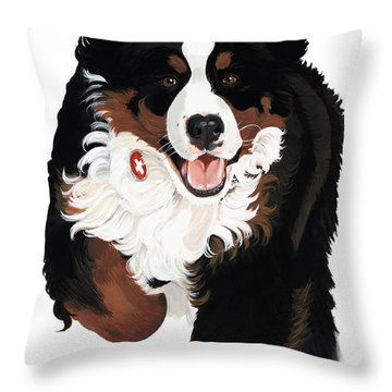 Bernese Mountain Dog Throw Pillows