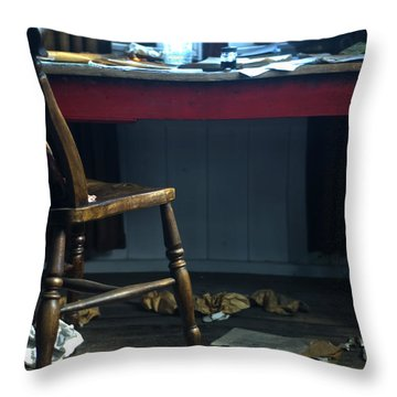 Dylan Thomas Writing Shed Throw Pillow by Steve Purnell