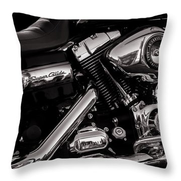 Dyna Super Glide Custom Throw Pillow