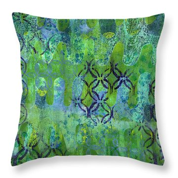 Throw Pillow featuring the mixed media Dynamic 1 by Lisa Noneman