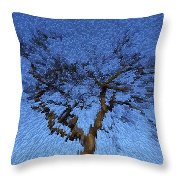 Dynamic Dawn Throw Pillow