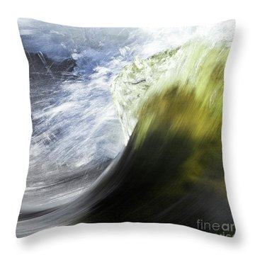 Dynamic River Wave Throw Pillow by Heiko Koehrer-Wagner