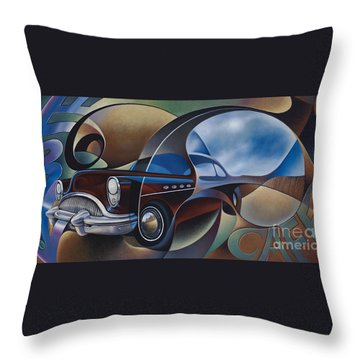 Dynamic Route 66 Throw Pillow