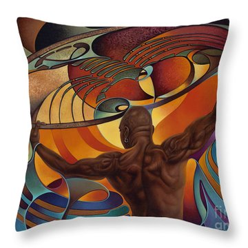 Dynamic Scorpio Throw Pillow by Ricardo Chavez-Mendez