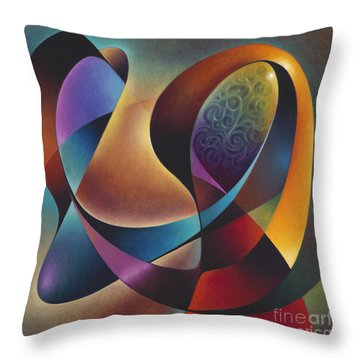 Dynamic Series #13 Throw Pillow by Ricardo Chavez-Mendez