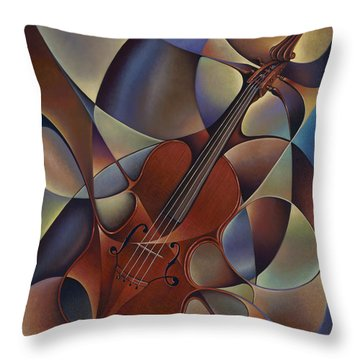 Dynamic Violin Throw Pillow