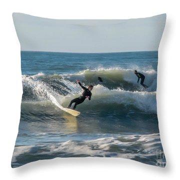 Dynamical Enjoyment Throw Pillow