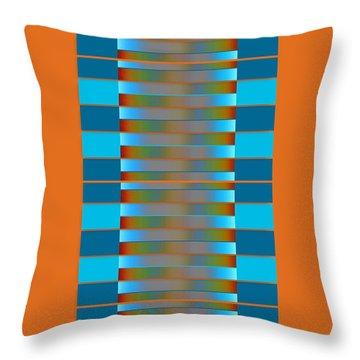 Throw Pillow featuring the digital art Dynamics Fete 1b by Darla Wood