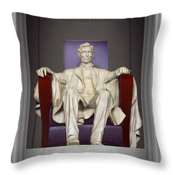 Ea-z-chair Lincoln Memorial 2 Throw Pillow by Mike McGlothlen