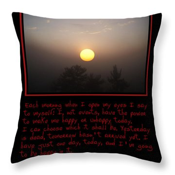 Each Morning Throw Pillow by Bill Cannon