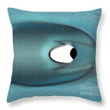 Eagerman Blue Throw Pillow