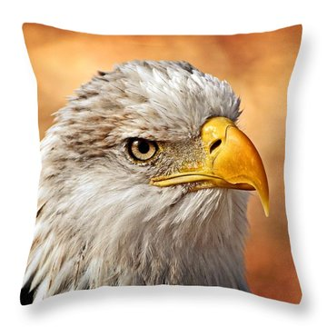 Eagle At Sunset Throw Pillow by Marty Koch