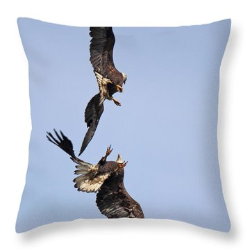 Eagle Ballet Throw Pillow by Randy Hall