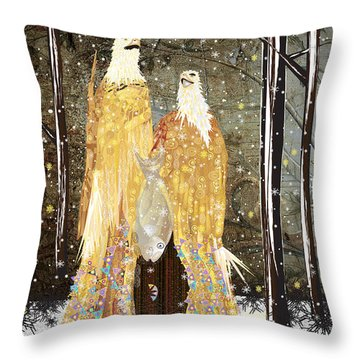 Winter Dress Throw Pillow by Kim Prowse