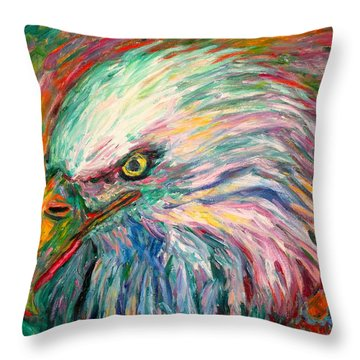 Eagle Fire Throw Pillow