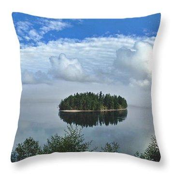 Eagle Island Throw Pillow
