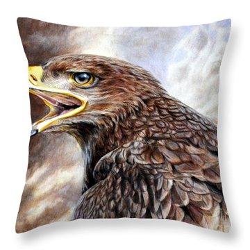Eagle Cry Throw Pillow