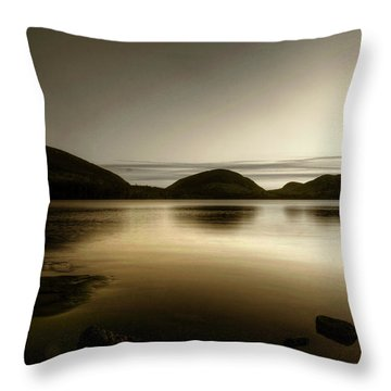 Eagle Lake Throw Pillow by Greg DeBeck