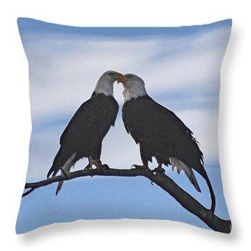 Eagle Love Throw Pillow