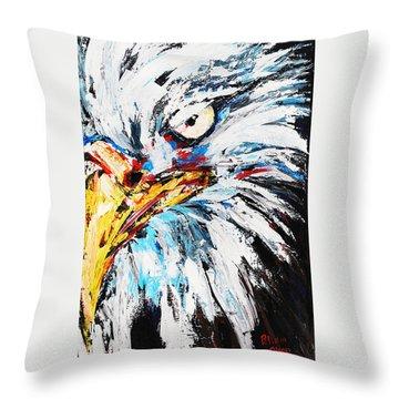 Eagle Throw Pillow by Patricia Olson