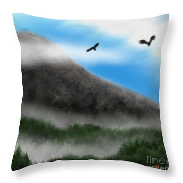 Eagle Peak Throw Pillow by Thomas OGrady