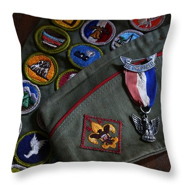 Eagle Scout Throw Pillow