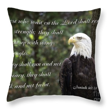 Eagle Scripture Isaiah Throw Pillow