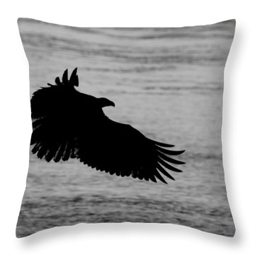 Eagle Silhouette Throw Pillow