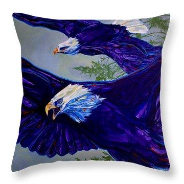 Eagles  Throw Pillow by Derrick Higgins
