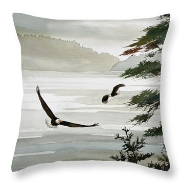 Eagles Eden Throw Pillow by James Williamson