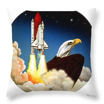 Da165 Eagle's Flight By Daniel Adams Throw Pillow