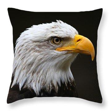 Bald Eagle Profile Throw Pillow by John Roberts