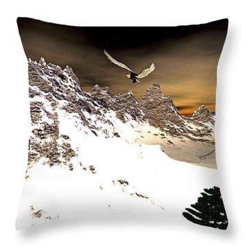 Eagles' Peak Throw Pillow